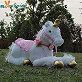 JEWH [85cm Jumbo White Unicorn - Plush Toys