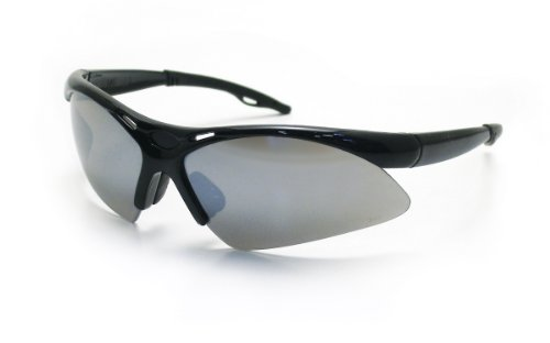 - SAS Safety 540-0203 Diamondback Eyewear with Polybag, Smoke Mirror Lens/Black Frame