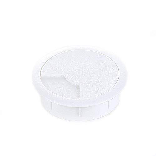 Sossai Pasacables Redondos | Juego de 4 KDM2-80 | Color: Blanco | Diametro: 80 mm | Material: plastico (Hecho en UE)