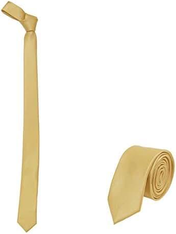Jnjstella Solid Skinny Men's Necktie 2