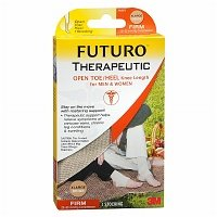 FUTURO Therapeutic Support Open Toe/Heel, Knee High, Firm Compression, Beige, XL, 1 ea - 2pc