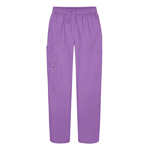 Sivvan Women's Scrubs Drawstring Cargo Pants (Available in 12 Colors) - S8200 - Lavender - S