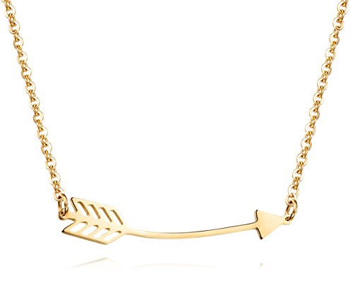 - Lazycat Gold Arrow Pendant Cupid Arrow Long Arrow Pendant bar Necklace Jewelry