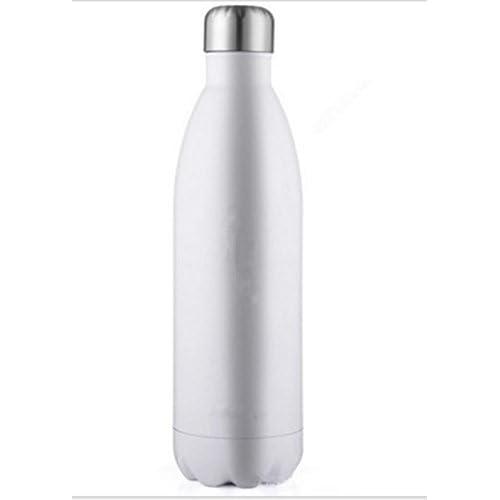 Bouilloire en acier inoxydable bouteille de sport en plein air 500ml plusieurs couleurs white