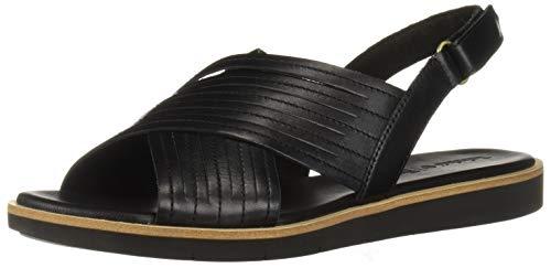 Timberland Women's Adley Shore X-Band Summer Flat Sandals, Black Full Grain, 7.5 Medium US
