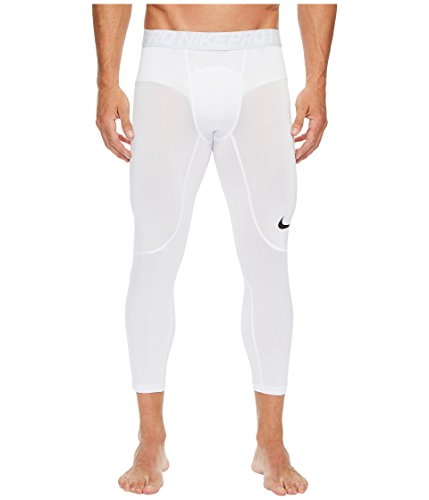 Nike Men's Pro Tights White/Pure Platinum/Black Size Large