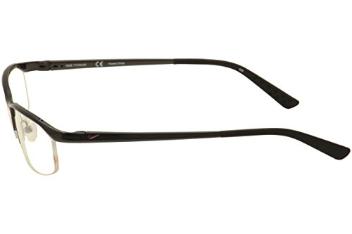 ace15fad81 Nike Eyeglasses 6037 001 Black Chrome Demo 51 17 135 - Buy Online in ...
