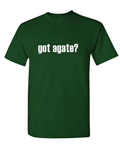 GOT AGATE? - Mens Cotton T-Shirt, L, Forest