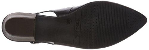 29400 Donna Leather Caviglia Nero Black alla Sandali Cinturino Tamaris con 7WTOTg