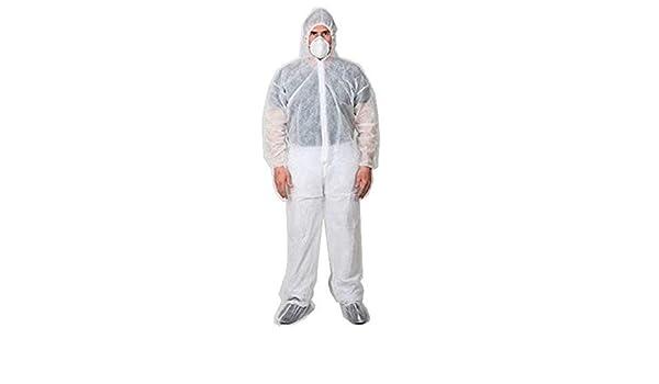 Buzo Mono desechable Capucha XXXL Blanco. Protección para Clínicas ...