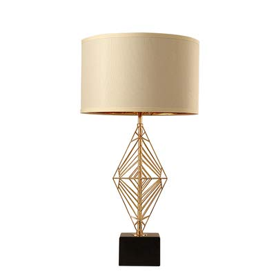 Lámpara De Mesa Blanca Para Sala De Estar, Pantalla De Tela/Cuerpo ...