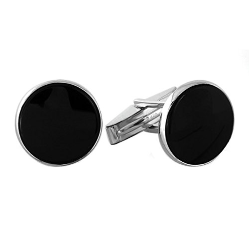 Sterling Silver and Onyx Cufflinks