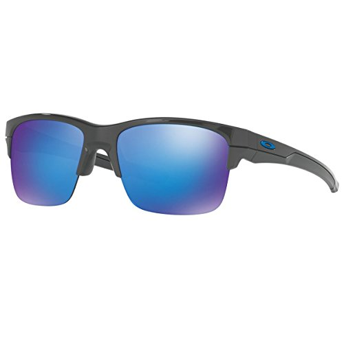 Oakley Thinlink Sunglasses, Dark Grey/Sapphire Iridium, One - Oakley Sunglasses Latest