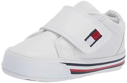 (Tommy Hilfiger Baby Layette Kids' HERRITAGE (Infant/Toddler) First Walker Shoe, White Smooth, 3 Regular US)