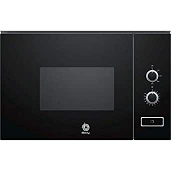 Balay 3CP5002N0 - Microondas integrable / encastre, 800 W, 20 L, color negro