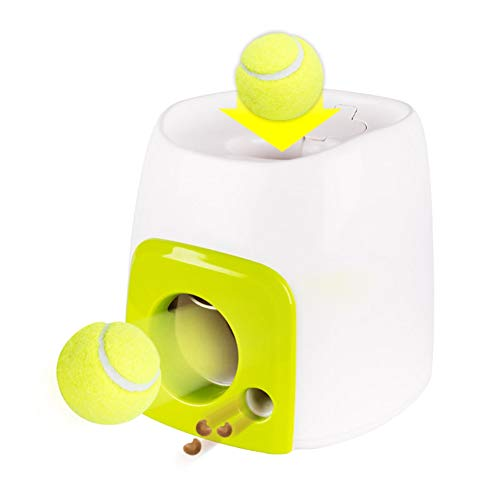Loveble Dog Interactive Treat Toy with 1 Ball,Fun Food Dispenser Thrower Toy,Slow Feeder Puzzle Toy,Brain Game Reward of a Treat, Not a Ball - Treat Launcher