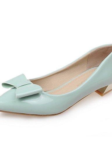 tacón piel plata verde de de eu33 PDX green cn32 Toe zapatos uk1 vestido oficina 5 bajo carrera punta gris sintética mujer casual us3 y Flats rojo 5 nxIUnYwqa