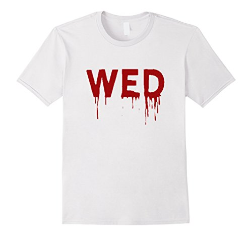 Shark Week Costume Group (Mens Wednesday T-Shirt | Days of the Week Group Costume | Shark Large White)
