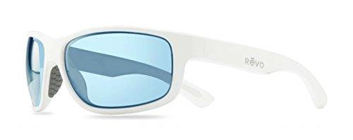 Revo Baseliner RE 1006 Polarized Wrap Sunglasses, White/Blue Water, 61 - Sunglasses Wrap Around Amazon