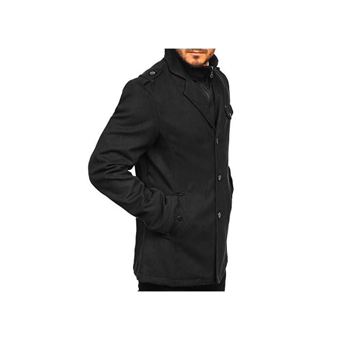 31VzfqzgdYL Abrigo de invierno acolchado para los hombres Una hilera de botones, con cierre de botones, el cuello inglés 100% De Poliéster