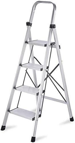 SED Escaleras de tijera multiusos Escalera ligera de 4 peldaños con banda de soporte en forma de X Pedal de escalera móvil Ampliación Ampliación de aleación de aluminio Escalera con cojinete Escalera: