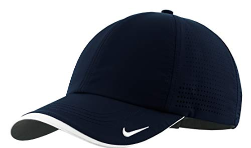 Nike Golf - Dri-FIT Swoosh Perforated Cap , 429467, Navy, No Size - Low Profile Golf Visor