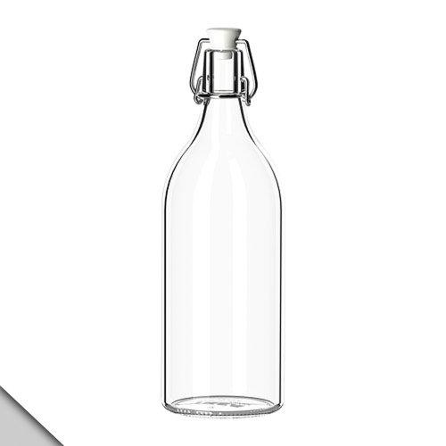 IKEA - KORKEN Bottle with stopper, clear glass (X2)