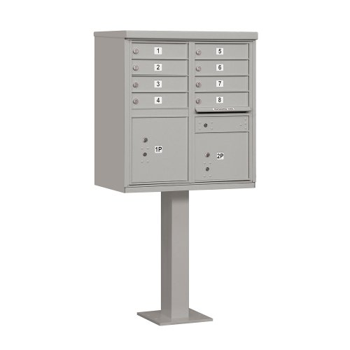Salsbury Industries 3308GRY-U Type I Cluster Box Unit with 8 A Size Doors, Gray by Salsbury Industries