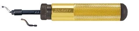 SHAVIV 29066 Classic SHAVIV Deburring Kit B With Aluminum Handle A (4 Pieces) - Deburring Tool