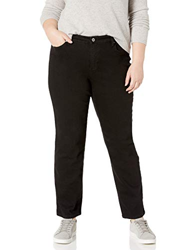 Bandolino Women's Plus Size Mandie 5 Pocket Jean, Saturated Black, 20W