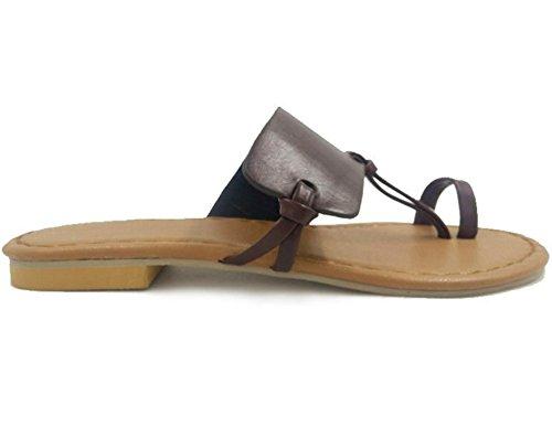 Dimensioni Brown Piatte Nvxie Di Flip Da Donna Grandi Pantofole 35 flops 38 Scarpe xBqB7TwgF0