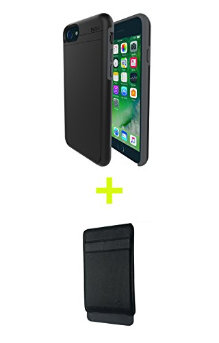 BUDU Modular Phone Case Wallet Bundle for iPhone 6, 6s, 7, 8 | Fully Protective, BUDU iPhone Case for 6, 6s, 7, 8 with Wallet Attachment - Removable Backplate | Easily Change Accessories |