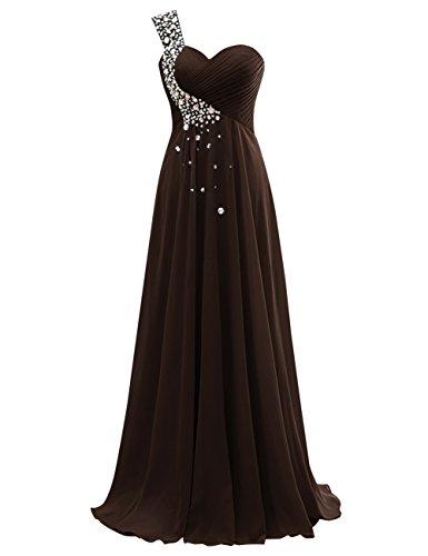 Dasior Long Chocolate Chiffon Women's Bridesmaid Party Dresses qqBZwEr