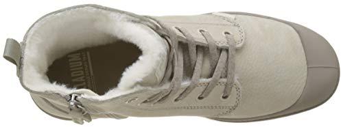 Botines Palladium Moonrock Pampa Mujer Zip para Hi R09 Grey Feather Marfil WL rqF6qnTI