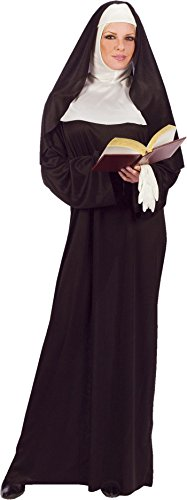 Morris Women's Mother Superior Costume One Size Black]()