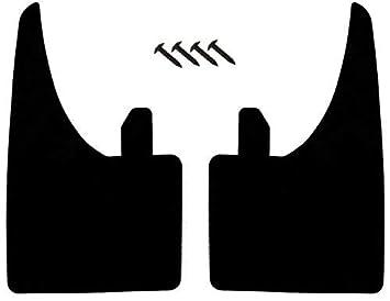2 guardabarros de ajuste universal para parte delantera o trasera, con tornillos de montaje, de goma, de fácil ajuste: Amazon.es: Coche y moto