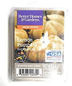 Better Homes & Gardens Lemon Pumpkin Shortbread 2018 Limited Edition Wax Cubes ()