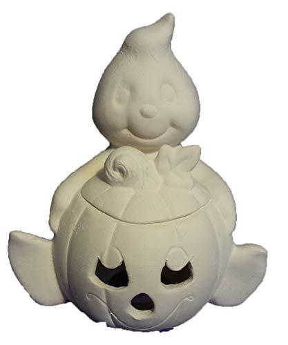 Ghost Holding Pumpkin 6