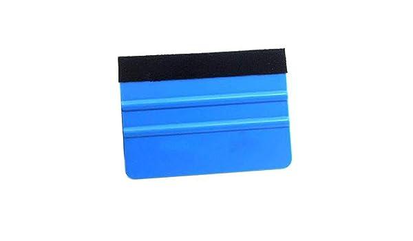 domiluoyoyo 99 X 72mm Azul Fieltro Borde De Fieltro Port/átil Herramienta De Aplicaci/ón De Envoltura De Vinilo para Coche Raspador Calcoman/ía Auto Limpieza del Coche Cepillo Accesorios