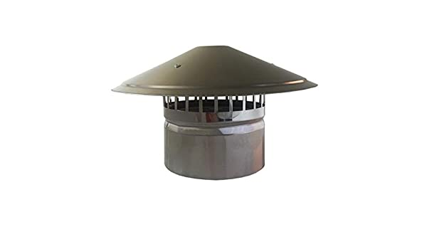 Amazon Com Lxltl Galvanized Chimney Cowl Pipe Rain Cover Protector Cap Ending Roof Cowl For Ducting Ventilation Cap Rain Hat Hood 110mm Home Kitchen