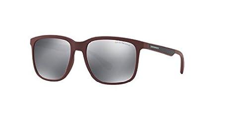 Amazon.com: Emporio Armani EA4104 Sunglasses Bordeaux Rubber ...