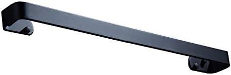 バスルームタオルバー 浴室の台所タオル棒さびない壁の台紙のタオル掛けのホールダーのホテルの洗濯布手タオル棒の家の貯蔵の壁のホック キッチン用タオルホルダー (色 : ブラック, サイズ : 60CM)