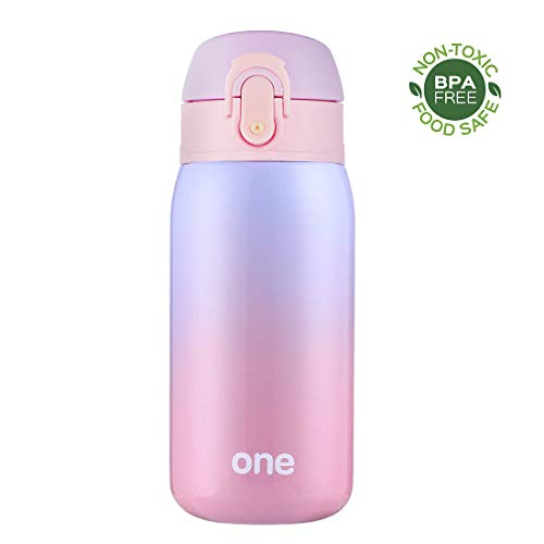 Sprouts Kids Water Bottle - 11Oz, Insulated Stainless Steel Bottle, Leakproof, Perfect for Kids Lunch Bag