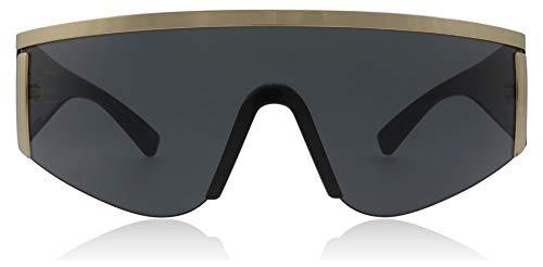 - Versace Women's Shield Sunglasses, Gold/Grey, One Size