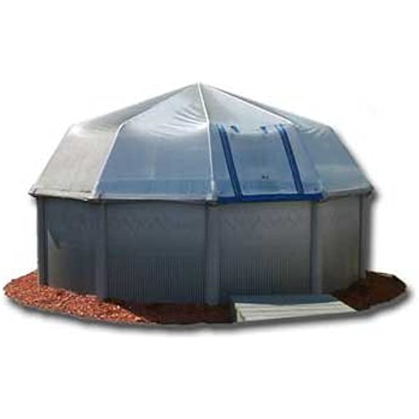 Amazon Com Sun Dome Pool Cover 15 X 30 Oval 16 Panel Kit Swimming Pool Solar Blankets Garden Outdoor