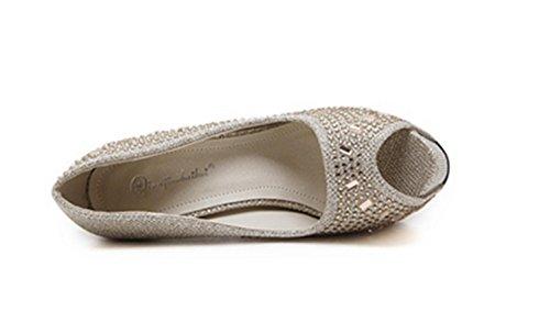 Pescados Alta Los Gold Las Sandalias Sandalias Las Mujer Zapatos Calidad De De SeñOras TalóN De del Calza Alto Lh De de Pescado El yu La Boca Bxn4B1g
