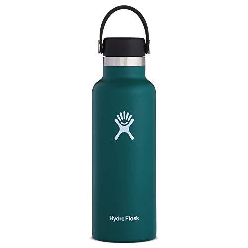 Hydro Flask Standard Mouth Water Bottle, Flex Cap - 18 oz, Jade