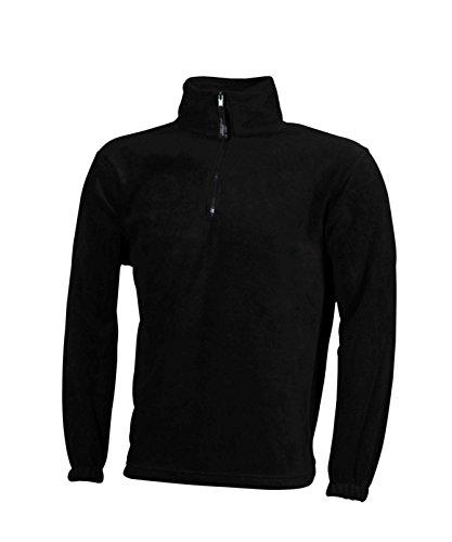 Sportiva zip Fleece Pesante Felpa In Black Half ZqwFw14