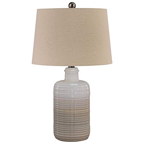 - Ashley Furniture Signature Design - Marnina Ceramic Table Lamp - Set of Two - Taupe