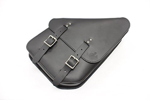 Dyna Right Solo Bag: Hand Made in USA, Black Cowhide Leather - Fits All Harley Davidson Dyna Softail Sportster models